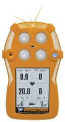 GasAlertQuattro 4-Gas Detector, Rechargeable, %LEL, O2, H2S, CO